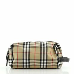 Burberry Cosmetic Pouch Vintage Check Canvas $283.50