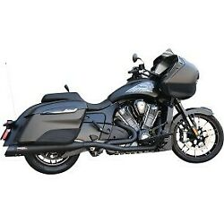 Bassani Black True Dual Exhaust System For Indian Challenger 20-21