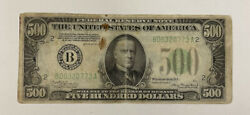 Series 1934-a 500 Federal Reserve Note Bank Of New York B00320773a Fine Detail