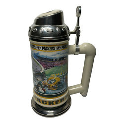 The Danbury Mint Green Bay Packers Football Team Nfl Collector Beer Stein 9.25