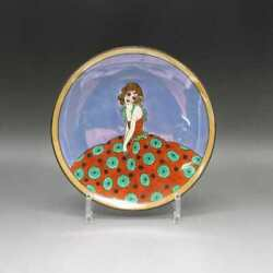 Old Noritake Floral Skirt Deco Lady Plate