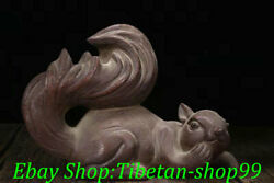 7 Antiques Old Chinese Yixing Zisha Pottery Squirrel Squirrels Animal Statue