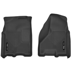 53511 Husky Liners Floor Mats Front New Black For Ram Truck F150 Ford F-150 1500
