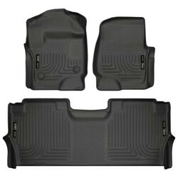 94061 Husky Liners Floor Mats Front New Black For F250 Truck F350 F450 Ford
