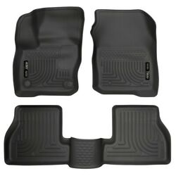 99781 Husky Liners Floor Mats Front New Black For Ford Focus 2016-2018