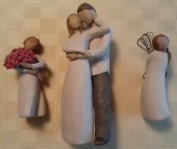 3 - Willow Tree Figurines Abundance Together And Thank You - Ex. Condition