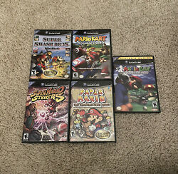 Super Mario Nintendo Gamecube Bundle Of 5 Games All Tested And Ships Same Day ⚡️