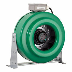 Hydrofarm Active Air 10 Inline 760 Cfm Hydroponic Fan With Mounts For Parts