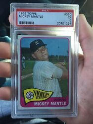 1965 Topps Mickey Mantle Psa 5 Great Condition. Centered Well. Hof