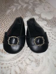 American Girl Retired Felicity Colonial Meet Shoes With Buckle Rare
