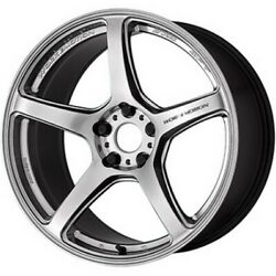 Work Emotion T5r 19x8.5j/9.5j Glow Silver Set Of 4 For Lexus Rc-f From Japan