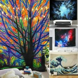 USA Psychedelic Mandala Tapestry Hippie Room Wall Hanging Blanket Art Home Decor