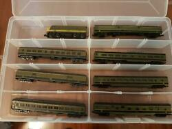 N Scale Cn Kato Locomotive And 7 Arnold Or Con Cor Passenger Cars Set