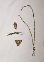 Vintage Antique Pocket Watch Fob Chain Clip Jewelry Parts