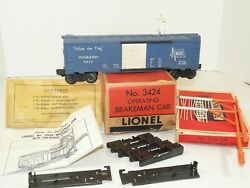 Lionel Pw 3424 Operating Wabash Boxcar Boxes And Accessories
