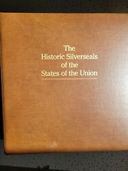 Franklin Mint Historic Silverseals Of The States Of The Union - 50 Sterling