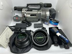 Sony Dcr-vx2000 Camcorder W/ Accessories And Hard Carrying Case - Tested And Works