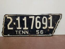 1956 Tennessee Map Shape Long Version License Plate Tag