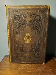 1864 Household Book Of Poetry By Charles Dana Antique Leather Hardcover Appleton