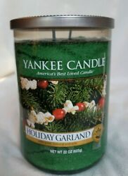 quot;Holiday Garlandquot; by Yankee Candle. Large 22 oz NEW Jar