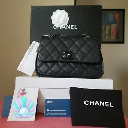 Chanel Frame in Chain Flap Bag Quilted Calfskin Medium $3150.00