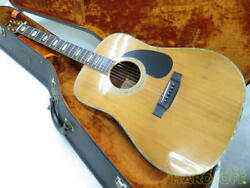 K.yairi Yw600 Hand Crafted Acoustic Guitar Serial No. 7208 Made In Japan 1975