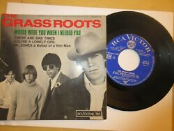Ep 45t Vinyl The Grass Roots - Bob Dylan . Rca Victor 86906m
