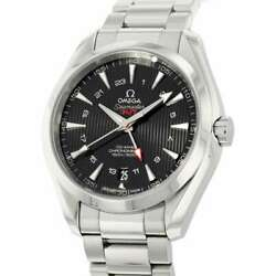 Omega Seamaster Aqua Terra Co-axial Gmt 43mm Stainless Steel Black Dial 231....