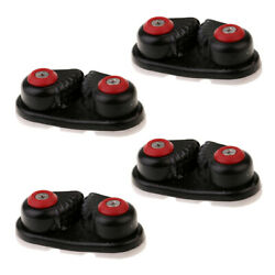 4 Pieces Black Plastic Sailboat Cam Cleat For Dia. 10-14mm Rope Sailing Boat