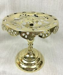 Antique Brass Cake Display Stand Kettle Trivet Old Victorian Gothic 19th Century