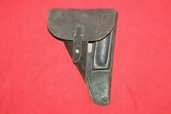 Original Wwii German Black Leather Walther P38 Holster . 1