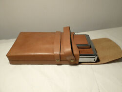 Polaroid Sx-70 Brown Leather In Original Brown Leather Case