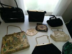 BEAUTIFUL Vintage purses lot of 9 rosenfield is one the rest had no markings