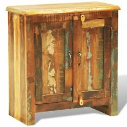 Reclaimed Cabinet Solid Wood With 2 Doors Vintage