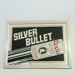 Vintage 1980s Coors Light Silver Bullet 19.5 X 14.5 Advertising Mirror Bar Sign