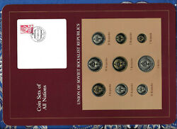 Coin Sets Of All Nations Ussr Russia W/card Unc All 1978 But 550 Kopecks 1979