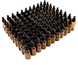 Rocinha 2oz Glass Dropper Bottle,80 Pack Amber Glass Bottles With Glass Droppers