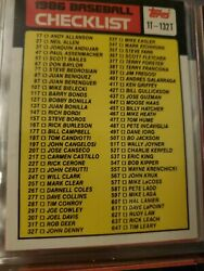 Topps 1986 Baseball About 900 Card Lot In A Binder