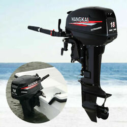 2 Stroke 18hp Hangkai Outboard Boat Motor Engine Water Cooling With Cdi System