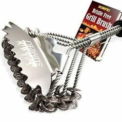 Sumpri Grill Brush Bristle Free And Scraper -best Safe Bbq Cleaning Brush With ...