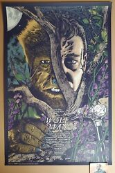 Anthony Petrie Wolf Man Movie Poster Print Art Universal Monsters 2020