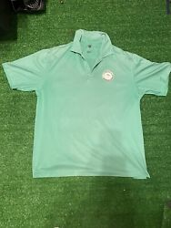 Nike golf polo mens large green LAPLAYA beach and golf resort breathable $15.00