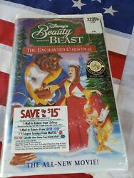 Disneyand039s Beauty And The Beast Enchanted Christmas Sealed Vhs Tape