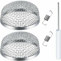 Toodoo 2 Pack Flying Insect Screen Rv Furnace Vent Cover 2.8 Inch Stainless S...