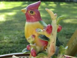 Yellow And Red Crested Cardinal Bird Figurine, Andrea By Sadek, 8