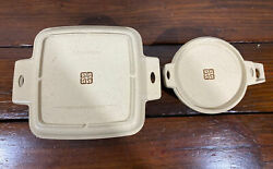 Vintage Littonware 1.5 Qt Square 39271 And Circular 39278 2 Cup Microwaveable Lot