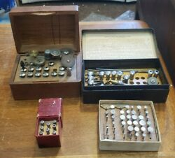 Vintage Watchmaker Lathe Bitts And Collets Lot