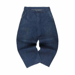 Us.navy Denim Trousers Military Pants Button Fly Indigo Menand039s W36l26 40s Vintage