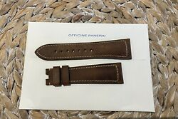 26mm Assolutamente Leather Strap Brown Deployment Watch Band Large Xl Long Pam