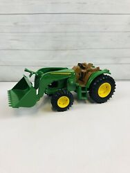 John Deere Toy Front Loader Utility Tractor Ertl Model -for Parts Or Repair
